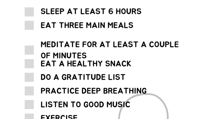 self-care-check-list-Institute-of-Psychology